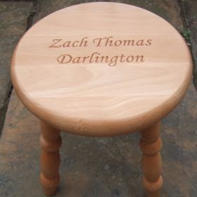 Personalised Children's Wooden Stool