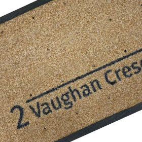 Personalised Number Address Doormat
