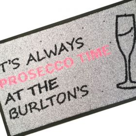 Personalised Prosecco Doormat