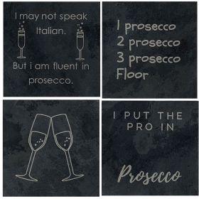 Prosecco Slate Coasters