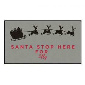 Personalised Santa Stop Here Doormat