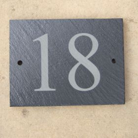 Slate House Number Sign (up to 2 digit)