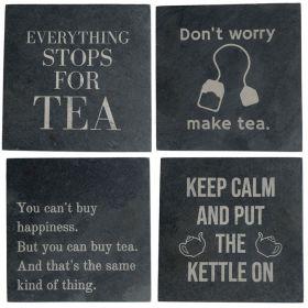 Tea Slogan Coasters