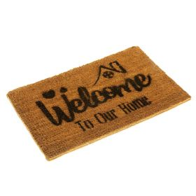 Welcome to Our Home Doormat - Eco Friendly and Biodegradable