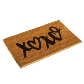 XOXO Doormat - Hugs and Kisses Doormat in Eco Friendly Biodegradable Coir