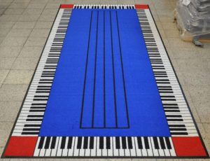 Music Department Piano Key Mat