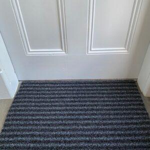 Outdoor Synthetic Scraper Doormat Black