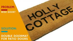 Double Doormat for Patio Doors