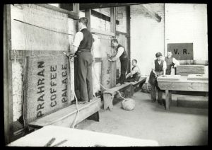 Victorian Men making Traditional Coir Door Mats