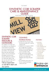 Synthetic Coir Scraper Mat Care Guide
