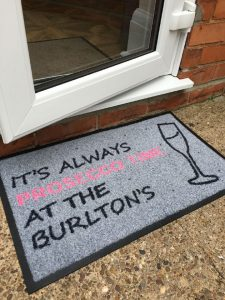 Personalised Outdoor Prosecco Mat
