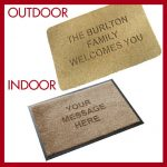 Doormat with house number