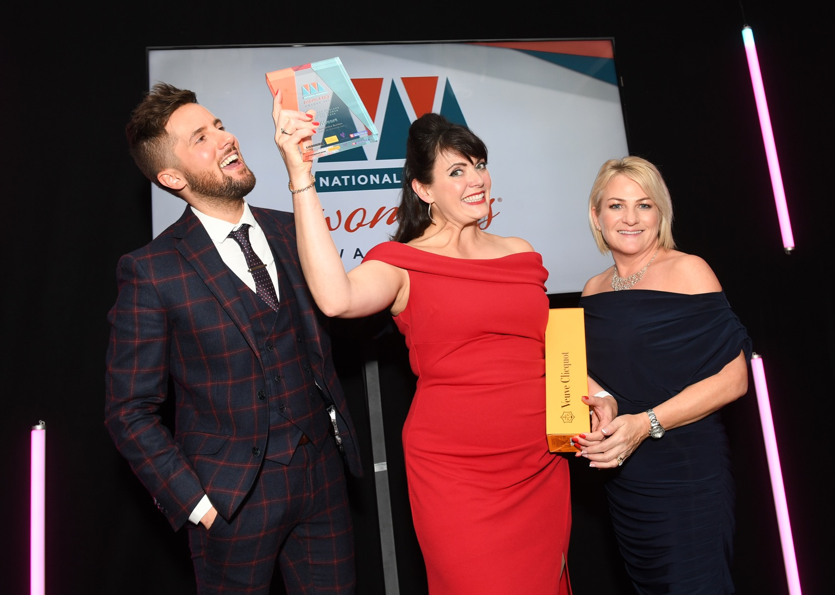 Sam Burlton - delighted to be presented with the Northern England Business Woman of the Year Award