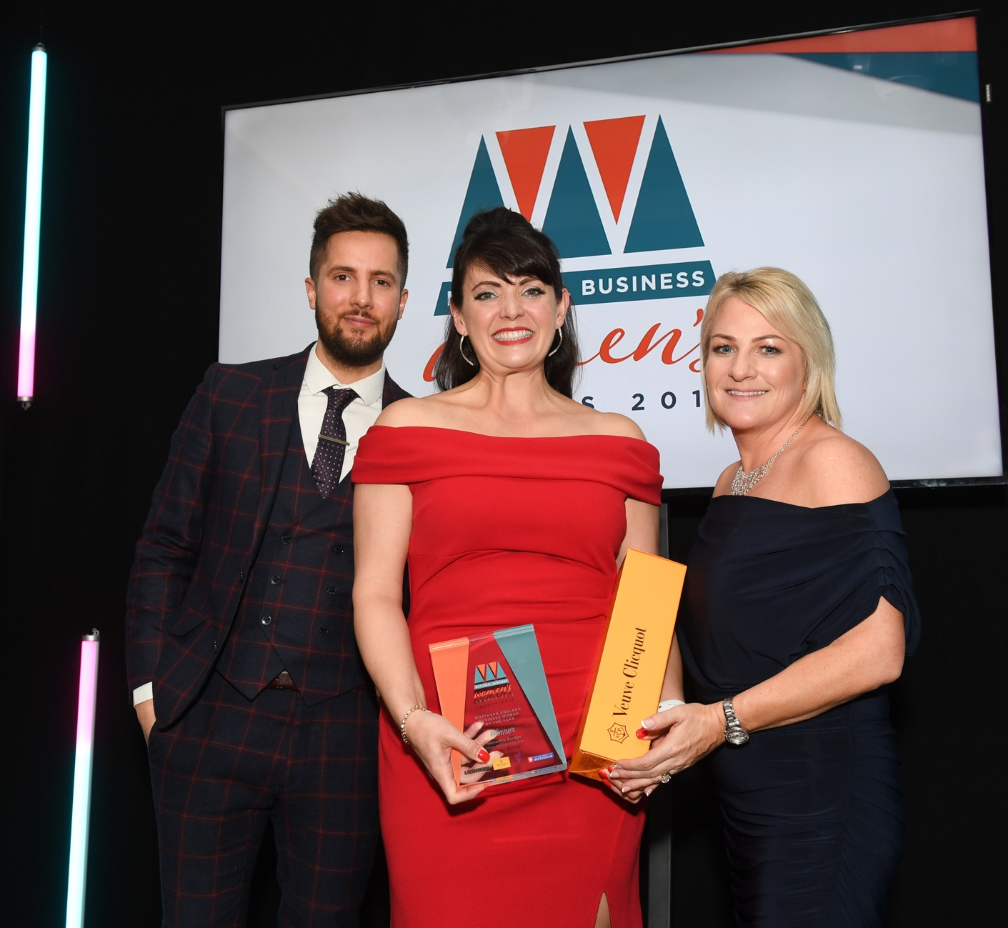 Sam Burlton of Make An Entrance - Northern England Business Woman of the Year 2019