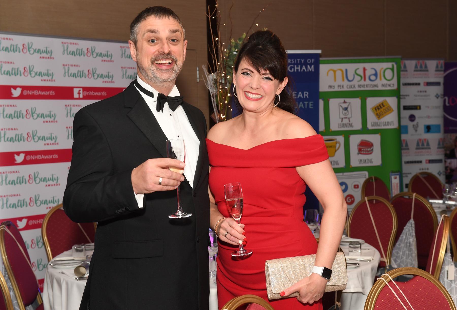 Stuart Burlton and Sam Burlton at the awards dinner