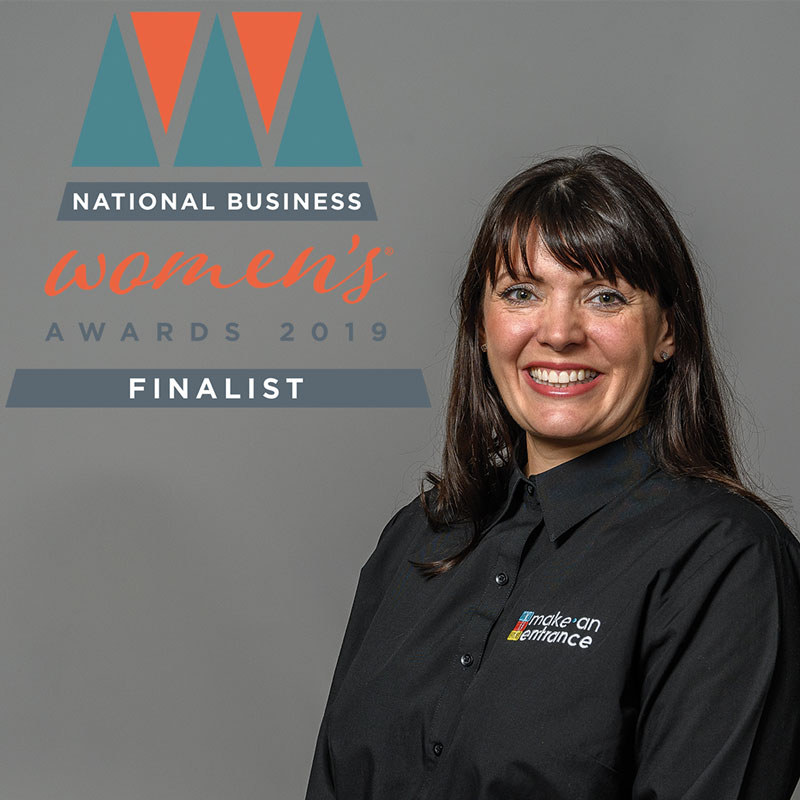 National Business Women's Awards - Sam Burlton - Make An Entrance Director as finalist