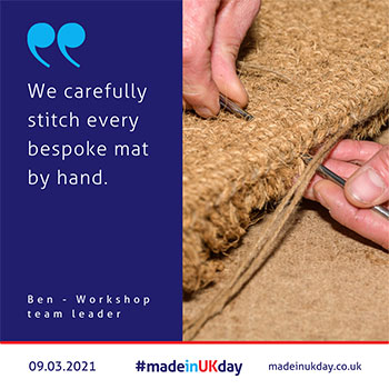 hand stitched mats - made in uk day