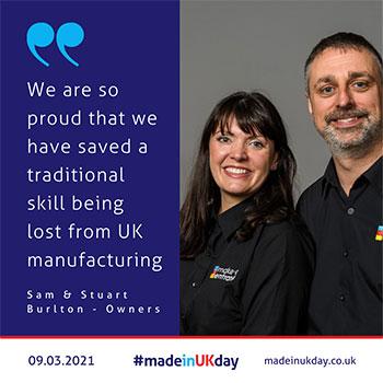 Sam and Stuart Burlton - Owners of Make An Entrance - made in uk day