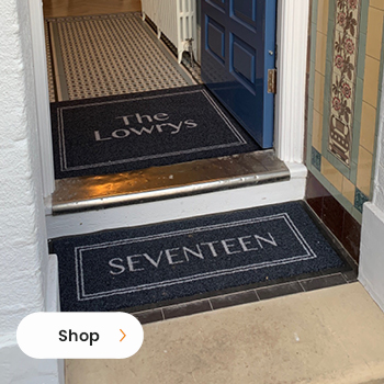 Our All Weather Made to Measure Doormat. Innately suitable for use on underfloor heating.