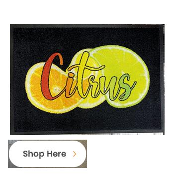 New Personalised Indoor Carpet Doormat Range-Citrus