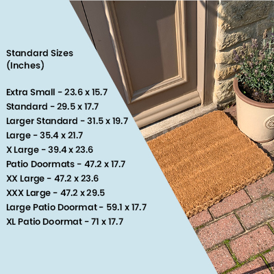 Our Standard Doormat Sizes Converted To Inches.