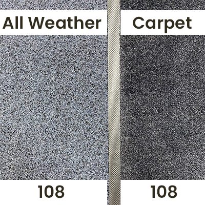 """A comparison of our """"Black 108"""" Colour in indoor lighting."""