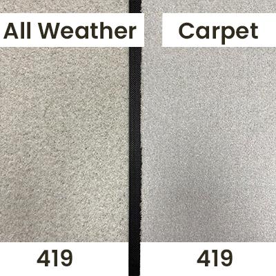 "Our ""Pebble Grey 419"" pictured in indoor lighting."
