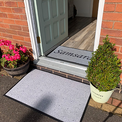 Our Personalised Doormats are 5mm thick, machine washable and made to measure.